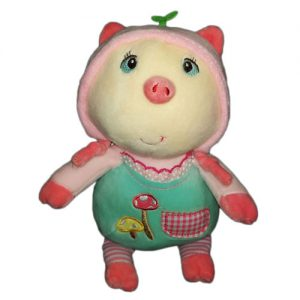 عروسک خوک لباس قارچی