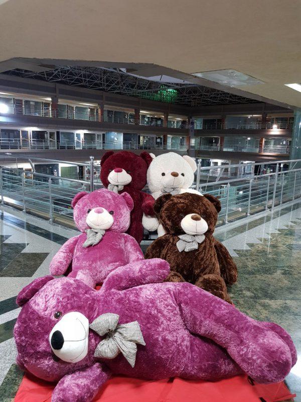 عروسک خرس مخمل سایز بزرگ