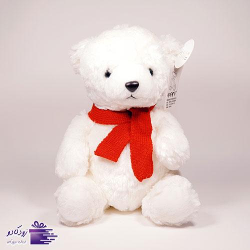 عروسک خرس سفید لاکچری